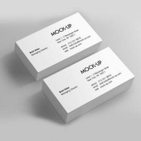 tarjetas de presentación plastico delgado mate (tiro)