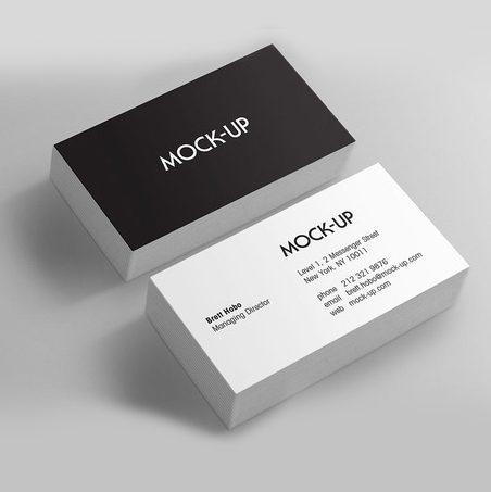tarjetas de presentación plastico delgado mate (tiro y retiro)